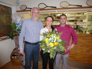 TCA Vorstand Rudibert Glowka, Serenella Mazzeo und Giovanni Caligiuri